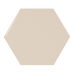 Carreau beige brillant 12.4x10.7cm SCALE HEXAGON GREIGE - 0.61m²
