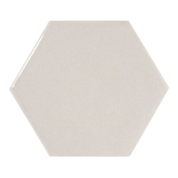 Carreau gris clair brillant 12.4x10.7cm SCALE HEXAGON LIGHT GREY - 21912 - 0.61m²