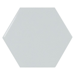 Carreau bleu ciel brillant 12.4x10.7cm SCALE HEXAGON SKY BLUE - 0.61m²