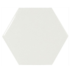 Carreau blanc brillant 12.4x10.7cm SCALE HEXAGON WHITE 21911 - 0.61m²