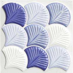 Carreau écailles bleues brillantes 30x30 SCALE SHELL BLUE - 0.75m²