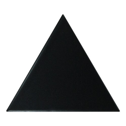 Carreau noir mat 10.8x12.4cm SCALE TRIANGOLO BLACK MATT - 0.20m² Equipe