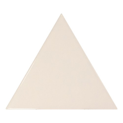 Carreau crème brillant 10.8x12.4cm SCALE TRIANGOLO CREAM - 0.20m² Equipe