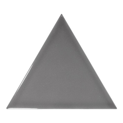 Carreau gris foncé brillant 10.8x12.4cm SCALE TRIANGOLO DARK GREY - 0.20m² Equipe