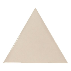 Carreau beige brillant 10.8x12.4cm SCALE TRIANGOLO GREIGE - 0.20m²
