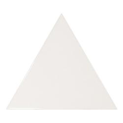 Carreau blanc brillant 10.8x12.4cm SCALE TRIANGOLO WHITE - 0.20m²