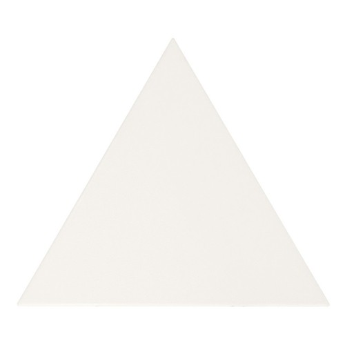 Carreau blanc mat 10.8x12.4cm SCALE TRIANGOLO WHITE MATT 23811 - 0.20m² - zoom