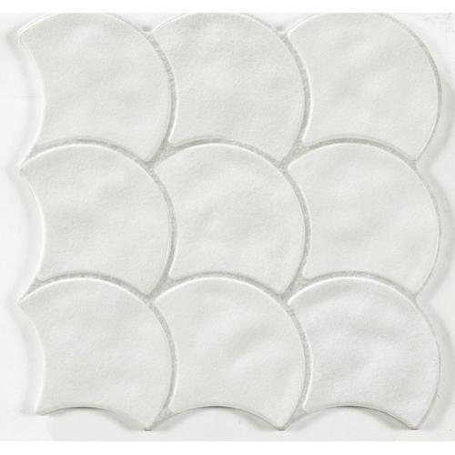 Carreau écaille blanc cassé 30x30 SCALE WHITE - 0.85m² Realonda