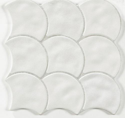 Carreau écaille blanc cassé 30x30 SCALE WHITE - 0.85m² - zoom