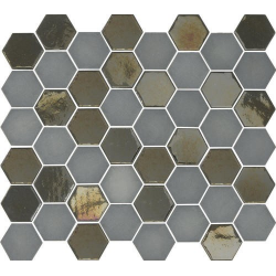 Mosaique mini tomette hexagonale grise 25x13mm SIXTIES GREY - 1m² Togama