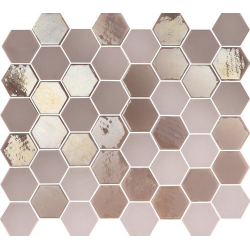 Mosaique mini tomette hexagonale rose 25x13mm SIXTIES PINK - 1m²