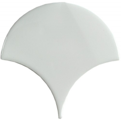Carreau écaille blanc riz 12.7x6.2 SQUAMA LUZ pour sol - 0.35m²