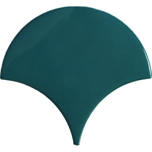Faience écaille bleu canard 12.7x6.2 SQUAMA OLIVE - 0.377m² Natucer
