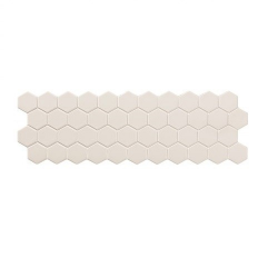 Carreau mini tomette blanc 17x52 cm TALARA WHITE - 1.20m²