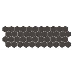 Carreau mini tomette noir 17x52 cm TALARA ASH - 1.20m²