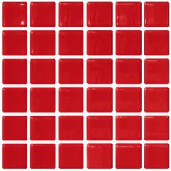 Mosaique rouge 5x5 sur trame 30.7x30.7 ROJO A-12 - 2 m²