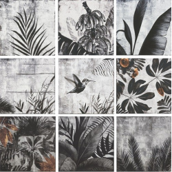 Carrelage esprit nature CHARCOAL PATCHWORK 21511 20x20 cm - 1.00m²