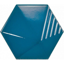 Carrelage effet 3D UMBRELLA ELECTRIC BLUE 12.4x10.7 - 23839 - 0.44m²
