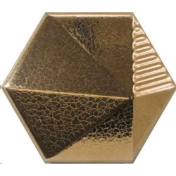 Carrelage effet 3D UMBRELLA METALLIC doré 12.4x10.7 - 23056 - 0.44m