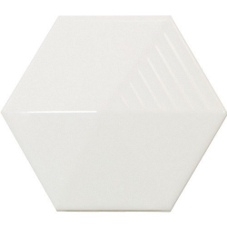Carrelage effet 3D UMBRELLA WHITE MATT 12.4x10.7 - 23030 - 0.44m²