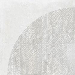 Carrelage imitation ciment décor blanc 20x20cm URBAN ARCO LIGHT 23528 - 1m² Equipe