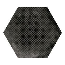 Carrelage hexagonal décor noir 29.2x25.4cm URBAN HEXAGON MÉLANGE DARK 23604 - 1m²