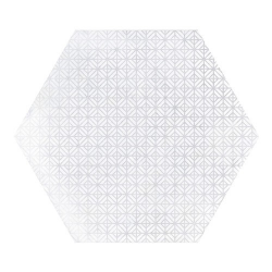 Carrelage hexagonal décor blanc 29.2x25.4cm URBAN HEXAGON MÉLANGE LIGHT 23516 - 1m²