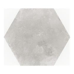 Carrelage hexagonal décor gris 29.2x25.4cm URBAN HEXAGON MÉLANGE SILVER 23603 - 1m²