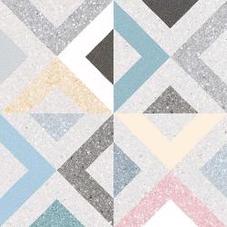 Carrelage style scandinave géométrique coloré BRENTA MULTICOLOR 20x20 - 1m²