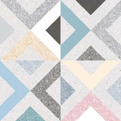 Carrelage style scandinave géométrique coloré BRENTA MULTICOLOR 20x20 - 1m² - zoom