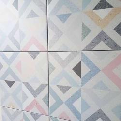 Carrelage style scandinave géométrique coloré BRENTA MULTICOLOR 20x20 - 1m² Vives Azulejos y Gres