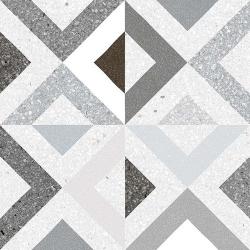Carrelage style scandinave géométrique grisé BRENTA HUMO 20x20 - 1 m² Vives Azulejos y Gres