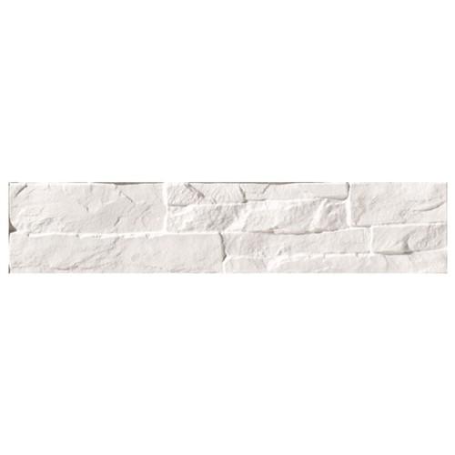 Parement mural blanc imitation pierre 8.1x41.5cm ATALAYA-C BLANCO - 0.50m² - zoom