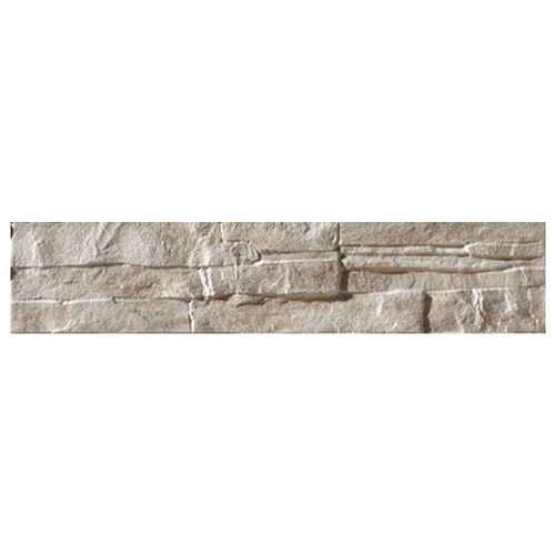 Parement mural gris imitation pierre 8.1x41.5cm ATALAYA-C GRIS - 0.50m² Vives Azulejos y Gres