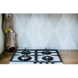 Carrelage imitation parquet rectifié Dion-R Blanco 21.8x89 Vives Azulejos y Gres
