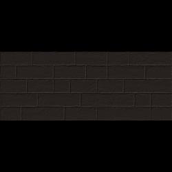 Parement mural briquettes noires Marlon Edale Negro 20x50cm - 1m²