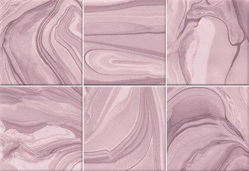 Faïence effet terre mêlée rose 23x33.5 cm MANKAI MARSALA- 1m² - zoom