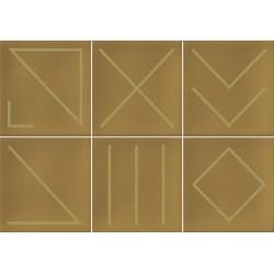 Faïence géométrique caramel/doré 23x33.5 NAGANO CARAMELO - 1m² Vives Azulejos y Gres