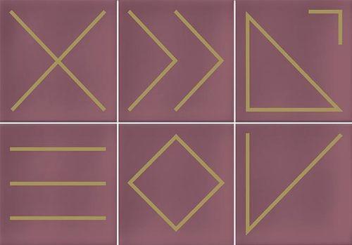 Faïence géométrique rose 23x33.5 cm NAGANO MARSALA - 1m² - zoom
