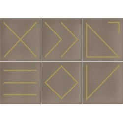 Faïence géométrique beige/doré 23x33.5 NAGANO NUEZ - 1m² Vives Azulejos y Gres