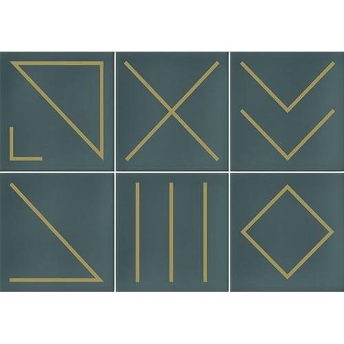 Faïence géométrique turquoise 23x33.5 cm NAGANO TURQUESA- 1m² Vives Azulejos y Gres