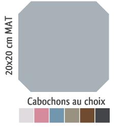 Carrelage octogonal 20x20 gris mat et cabochons CABARET GRIS HUMO - 1m² Vives Azulejos y Gres