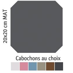 Carrelage octogonal 20x20 anthracite mat et cabochons CABARET ANTRACITA - 1m² Vives Azulejos y Gres