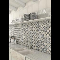 Carrelage imitation cabochons décoré 31x31 cm RETIRO - 1m² Vives Azulejos y Gres