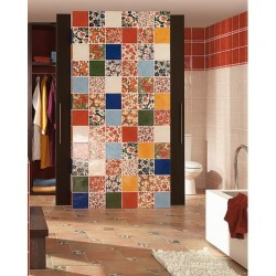 Faience rustique brillante BLEU MARINE ARANJUEZ 20x20 cm - 1m² Vives Azulejos y Gres