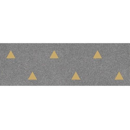 Faience murale graphite motif triangle or 32x99cm BARDOT-R Grafito - 1.27m² Vives Azulejos y Gres