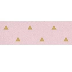 Faience murale rose motif triangle or 32x99cm BARDOT-R Rosa - 1 Vives Azulejos y Gres