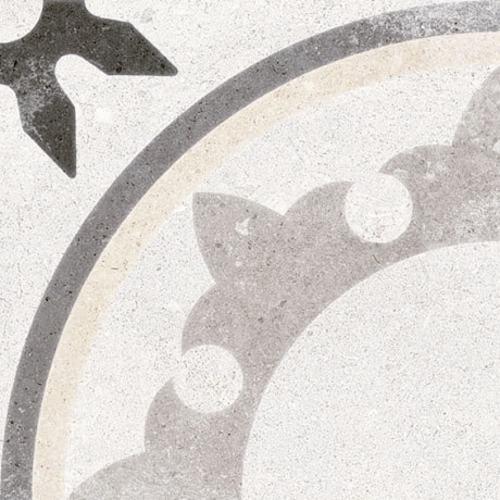 Carrelage style carreau ancien 20x20 cm Fiyi Blanco - 1m² - zoom