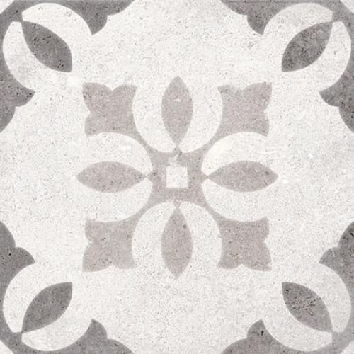 Carrelage motif ancien 20x20 cm Pukao Blanco - 1m² - zoom