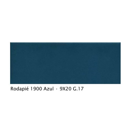Plinthe intérieur vieillie 1900 9x20 cm BLEU AZUL - 2mL Vives Azulejos y Gres
